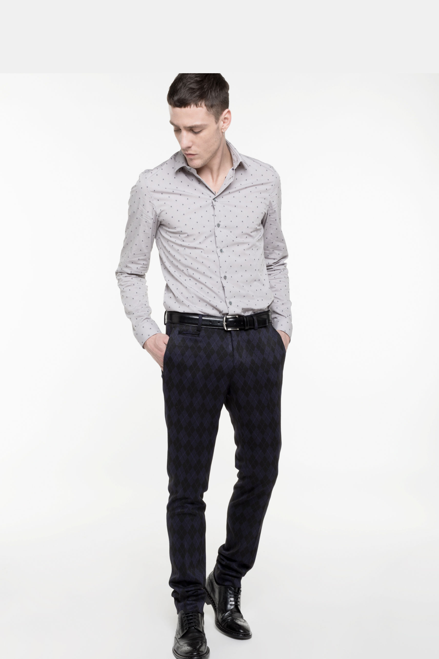 Classic slim fit trousers