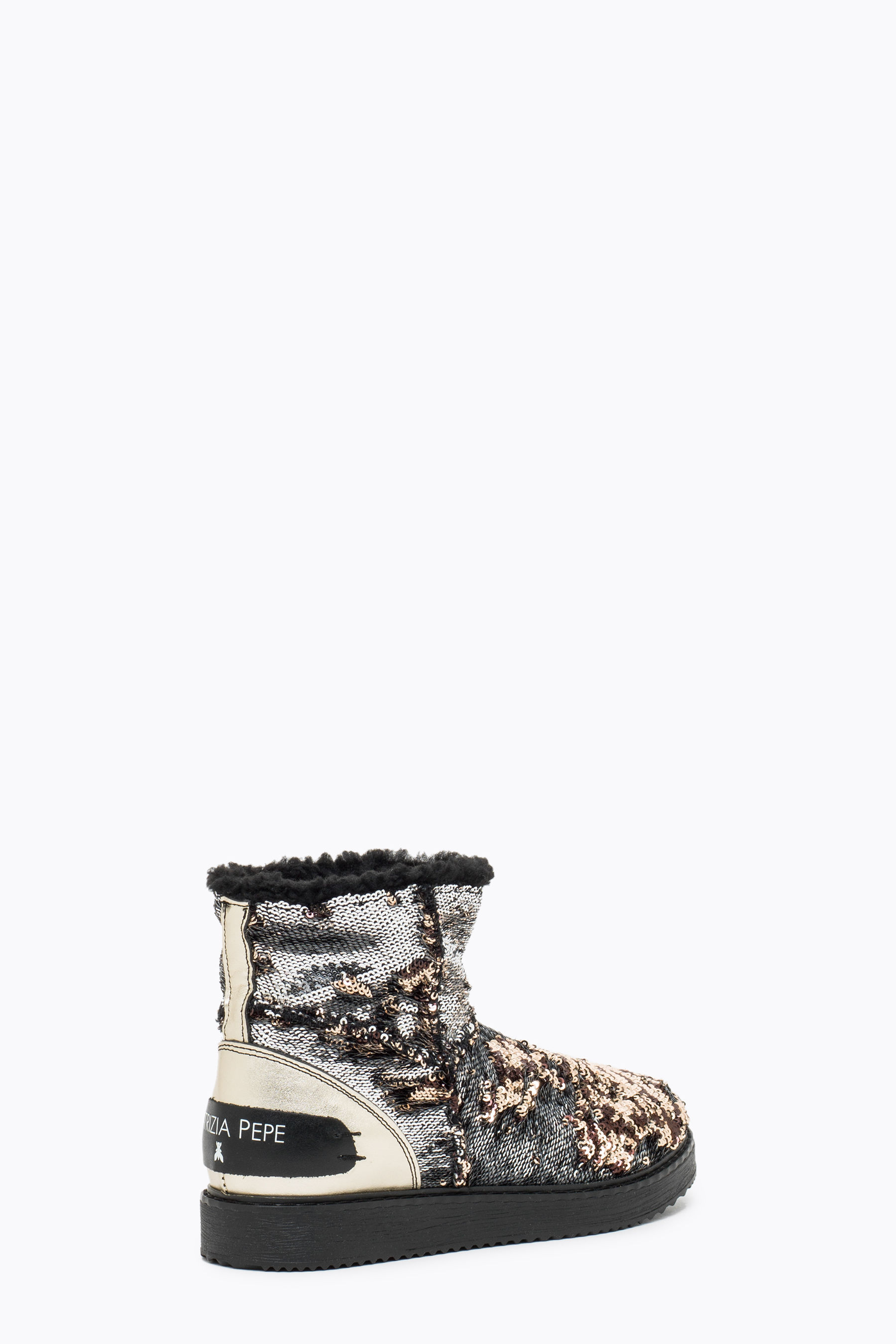 Sequinned ankle boot