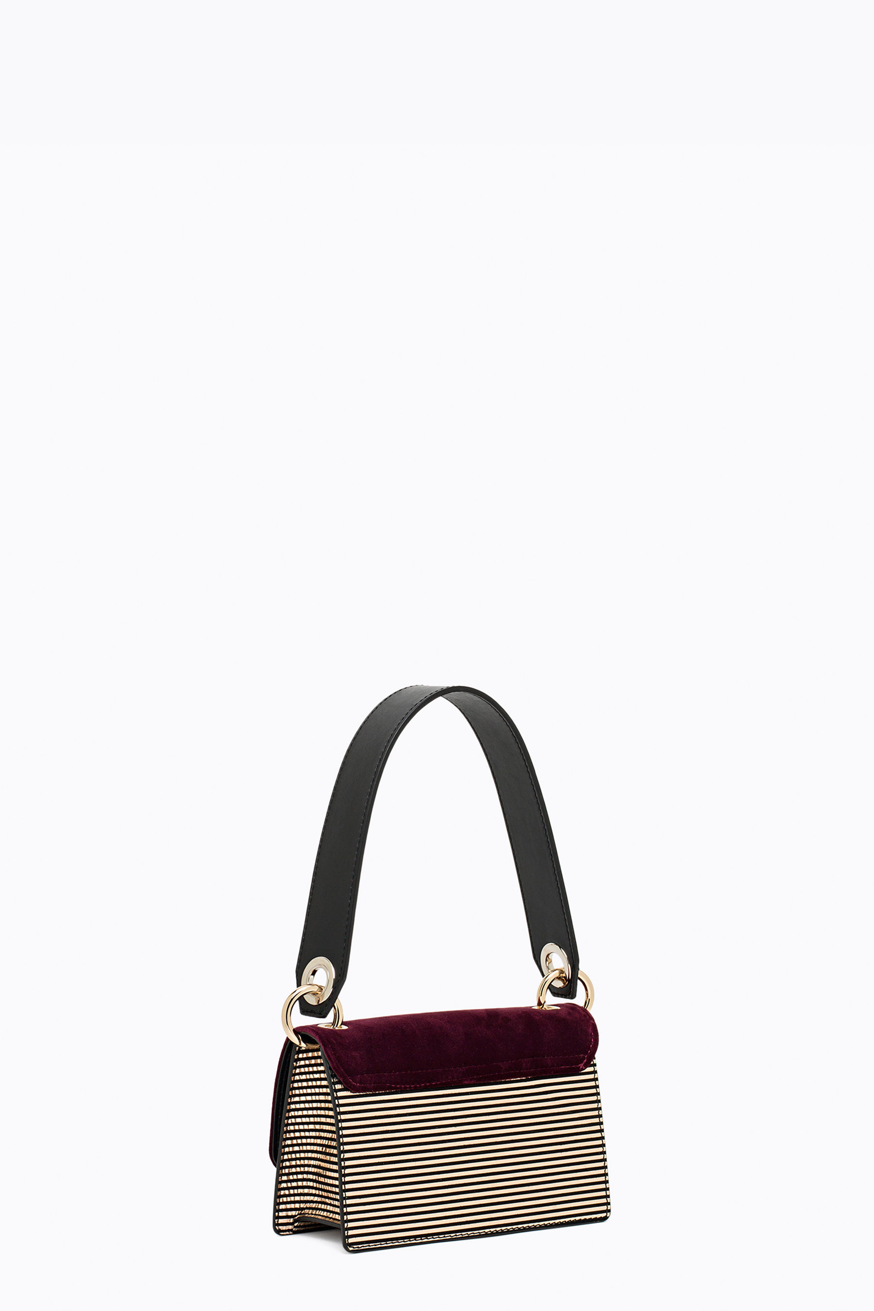 Velvet and suede crossbody bag