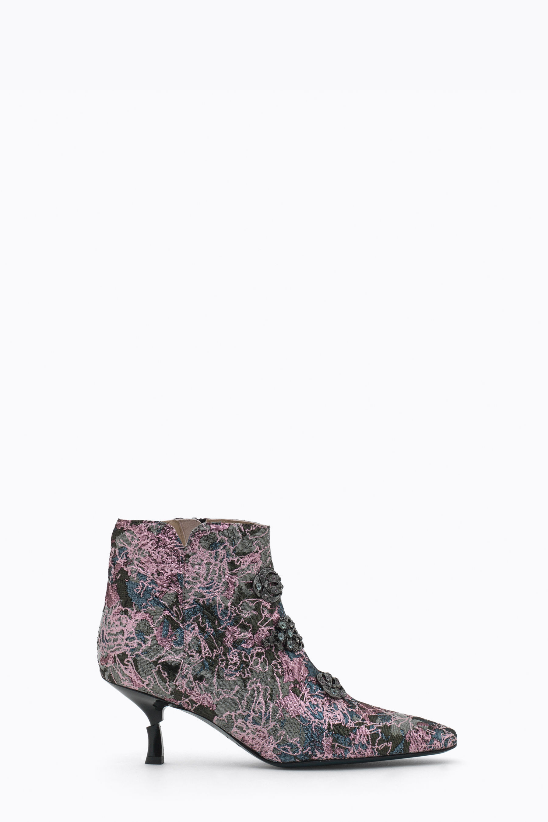 Ankle boot in jacquard fabric