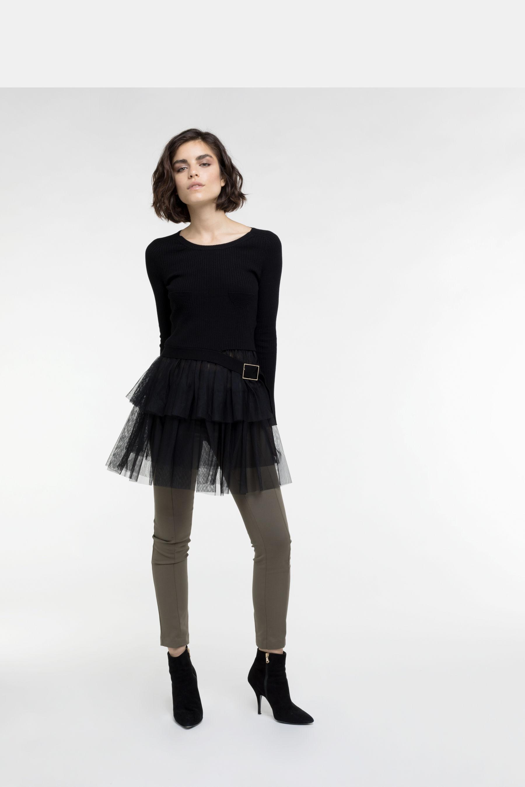 Patrizia Pepe Kleid Mit Rüschen Damen Braun Tageskleider