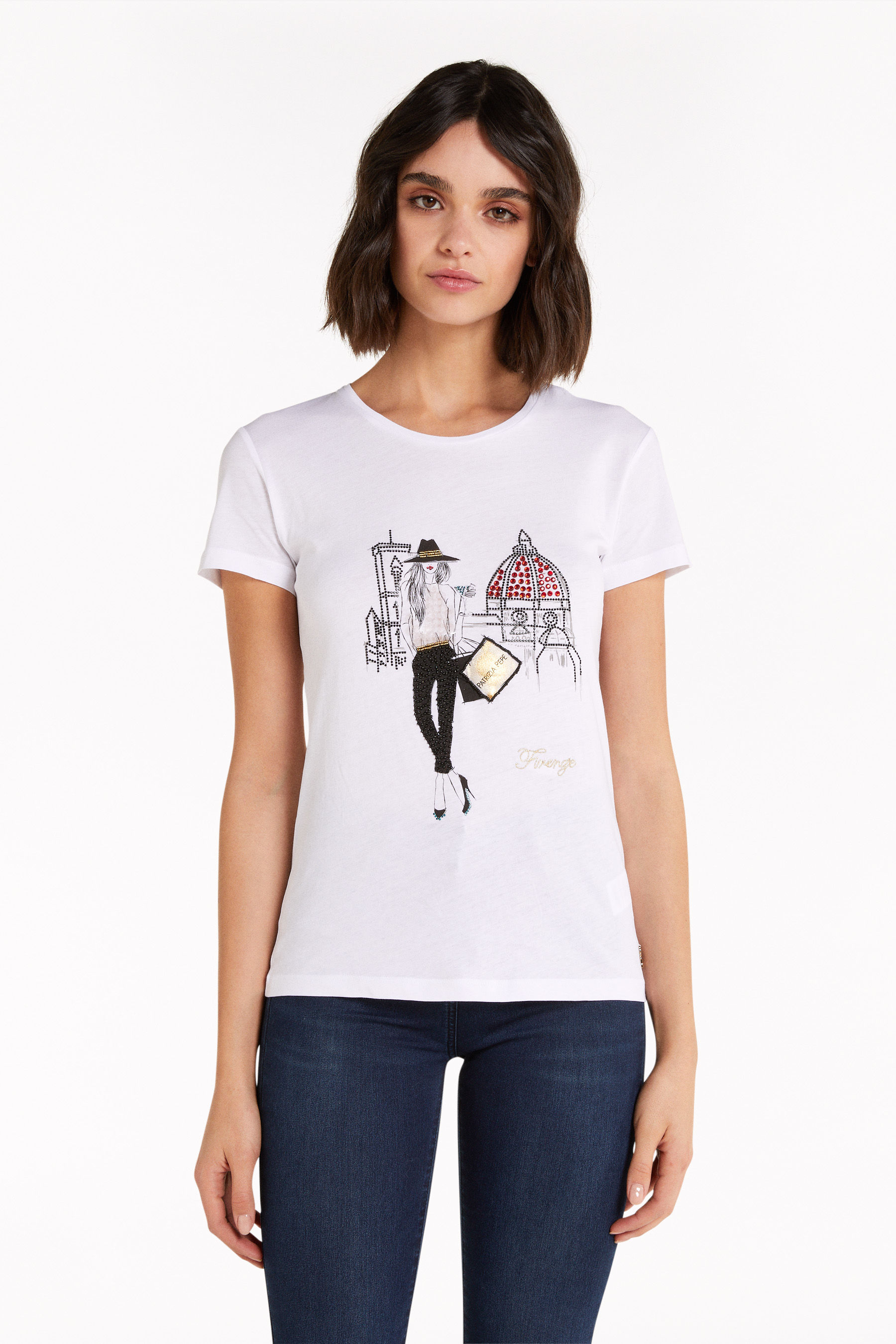 "T-shirt with ""City"" print"