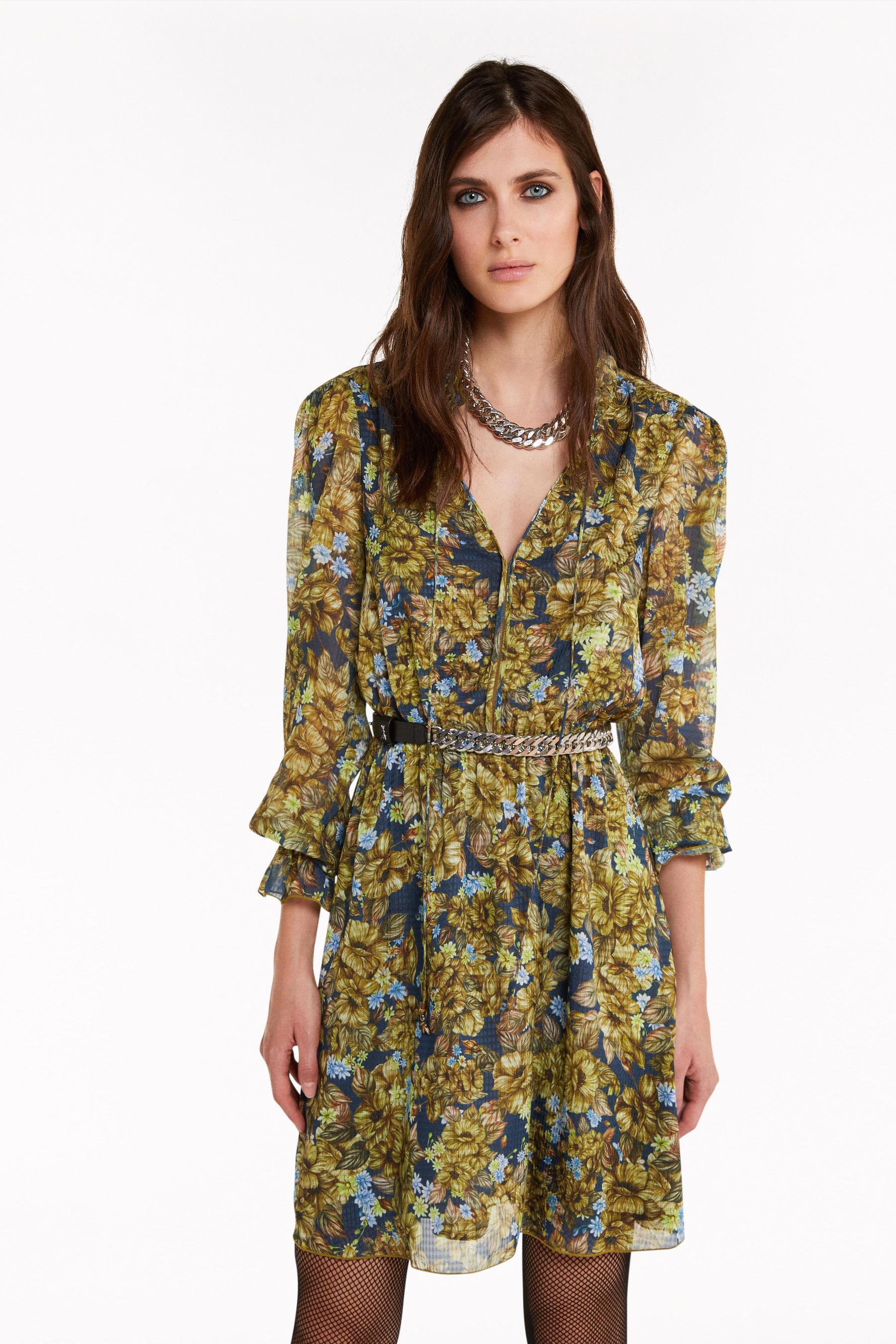 minikleid mit camouflage-print | damen kleider | patrizia pepe