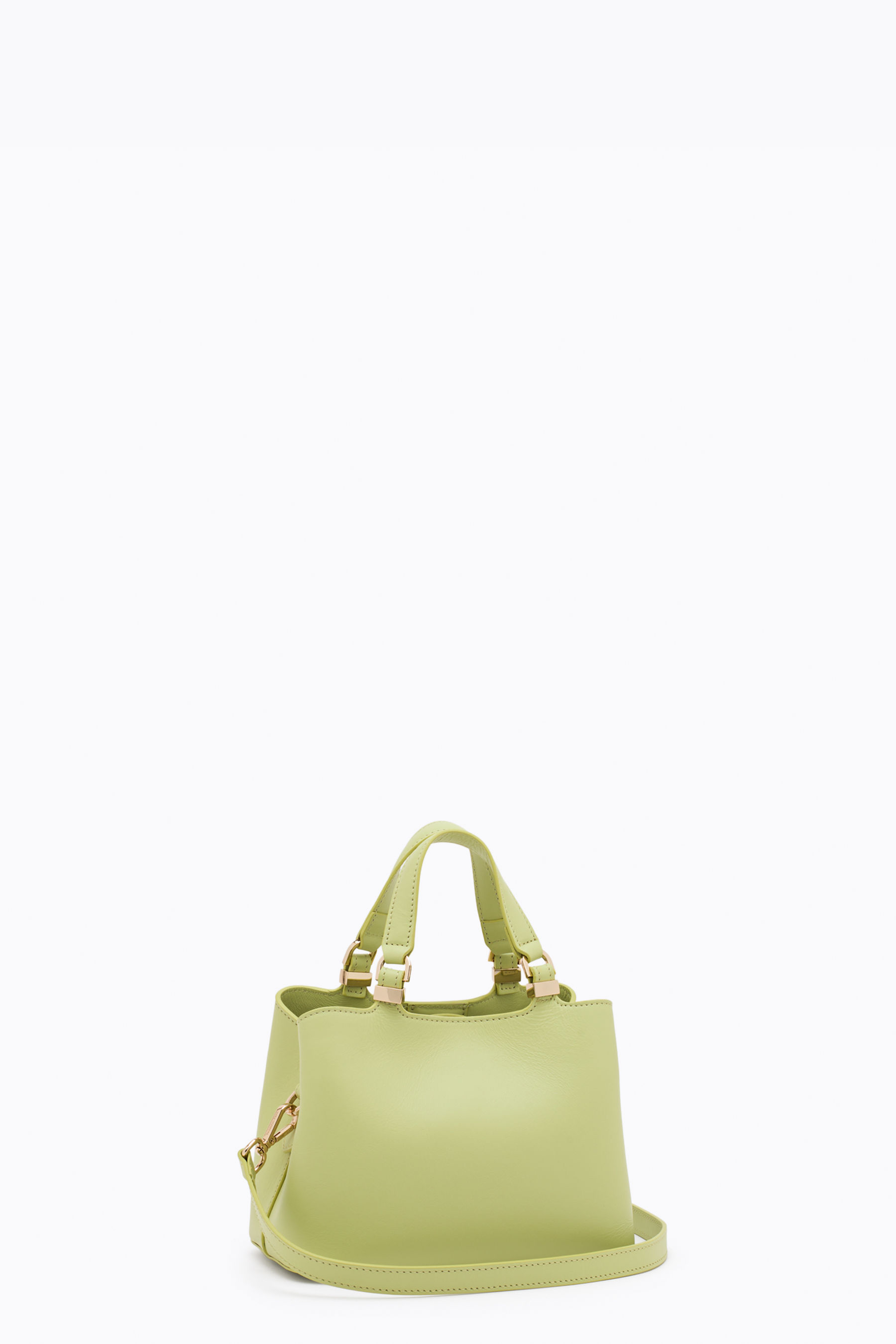 Small handbag with detachable shoulder strap