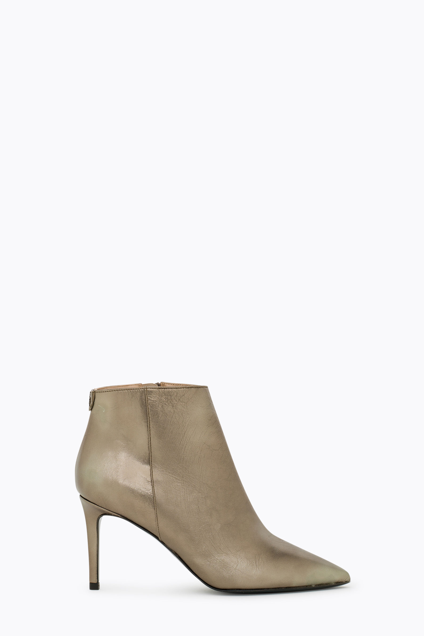 Ankle Boot aus Metallic-Leder