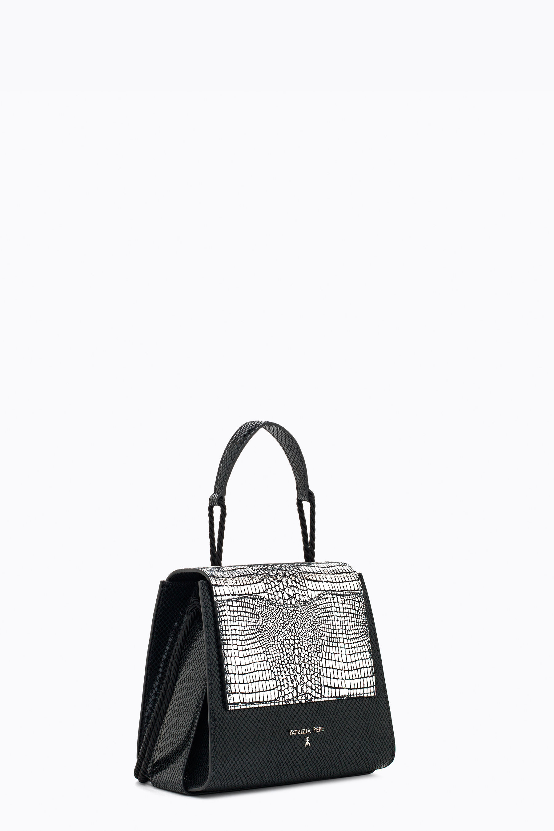 Bag in python print leather