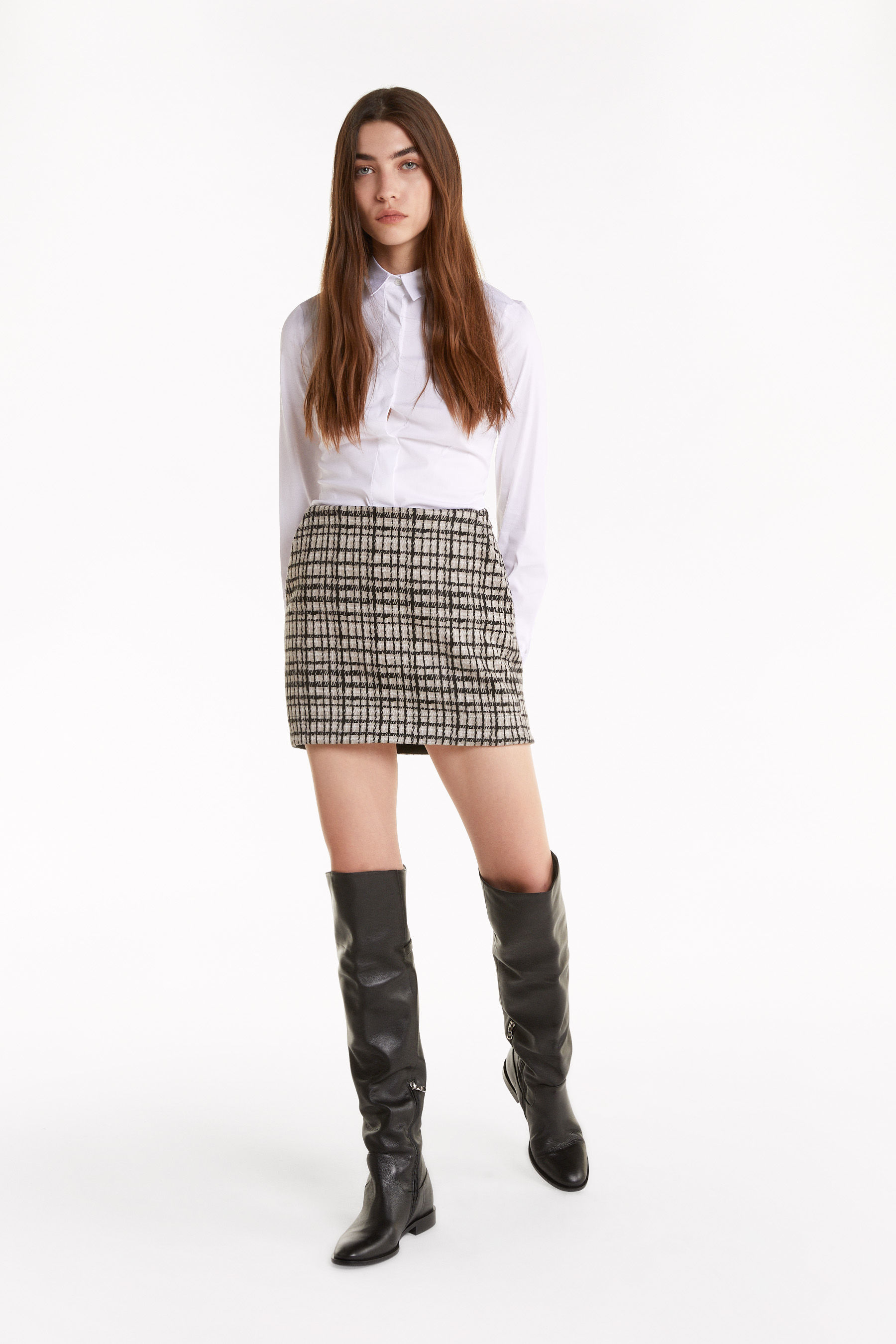 """Moon Check"" miniskirt"