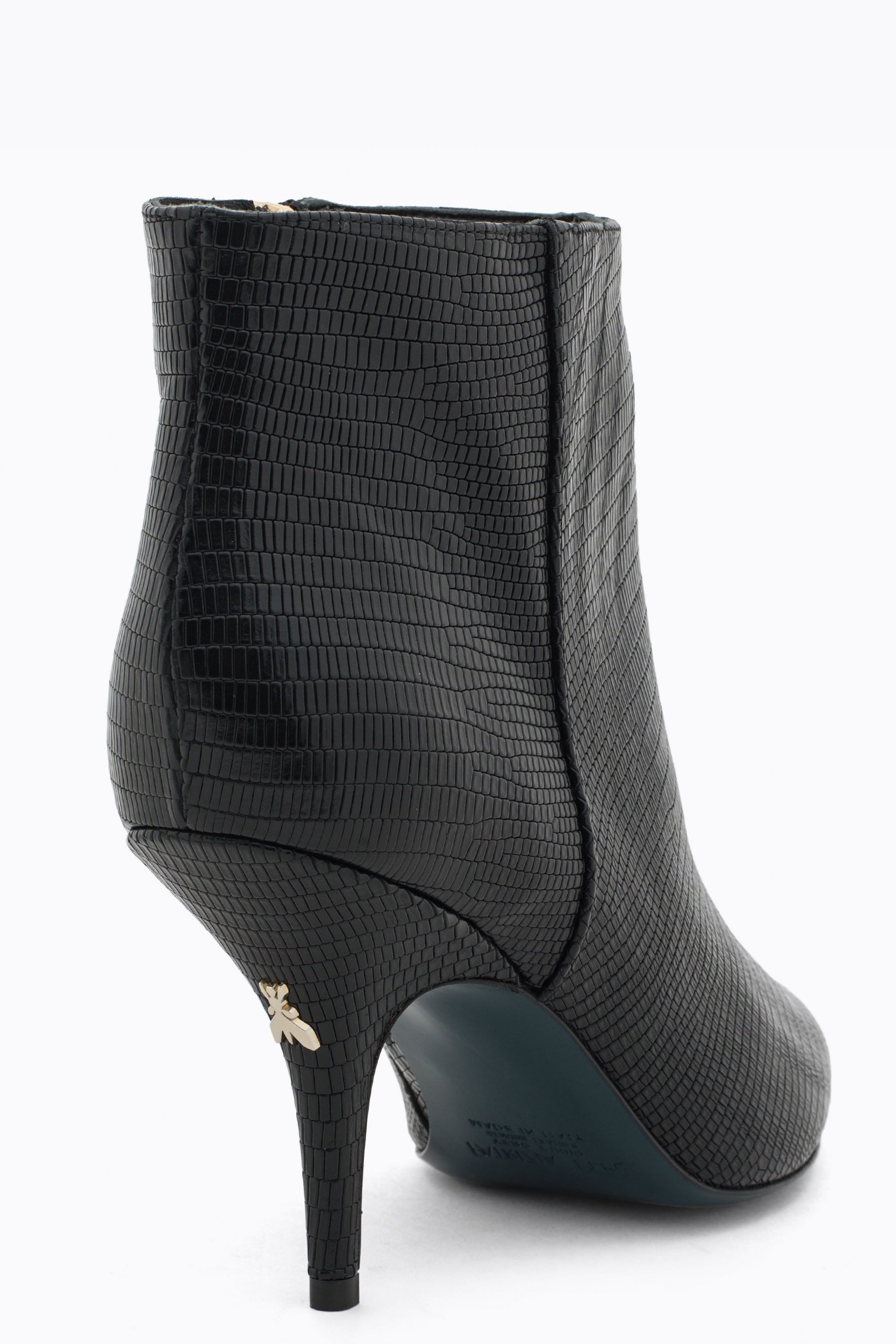 Python-effect ankle boot