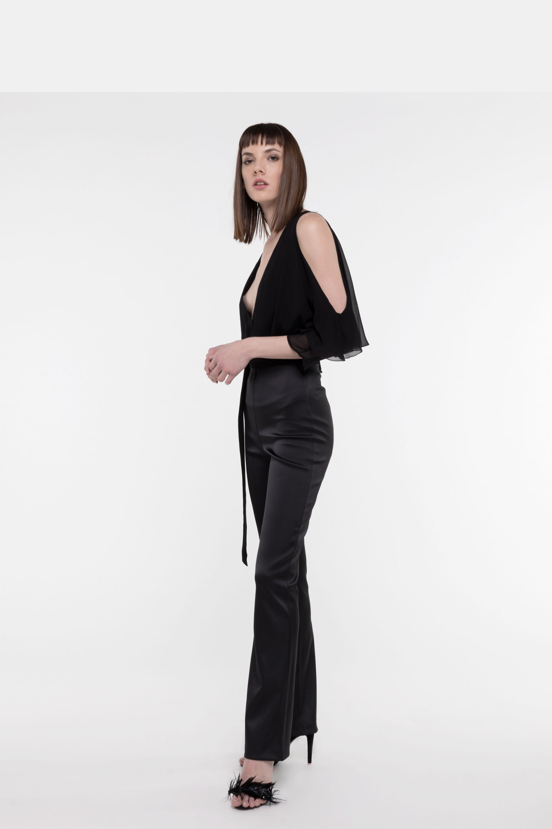 Jumpsuit in blend fabric