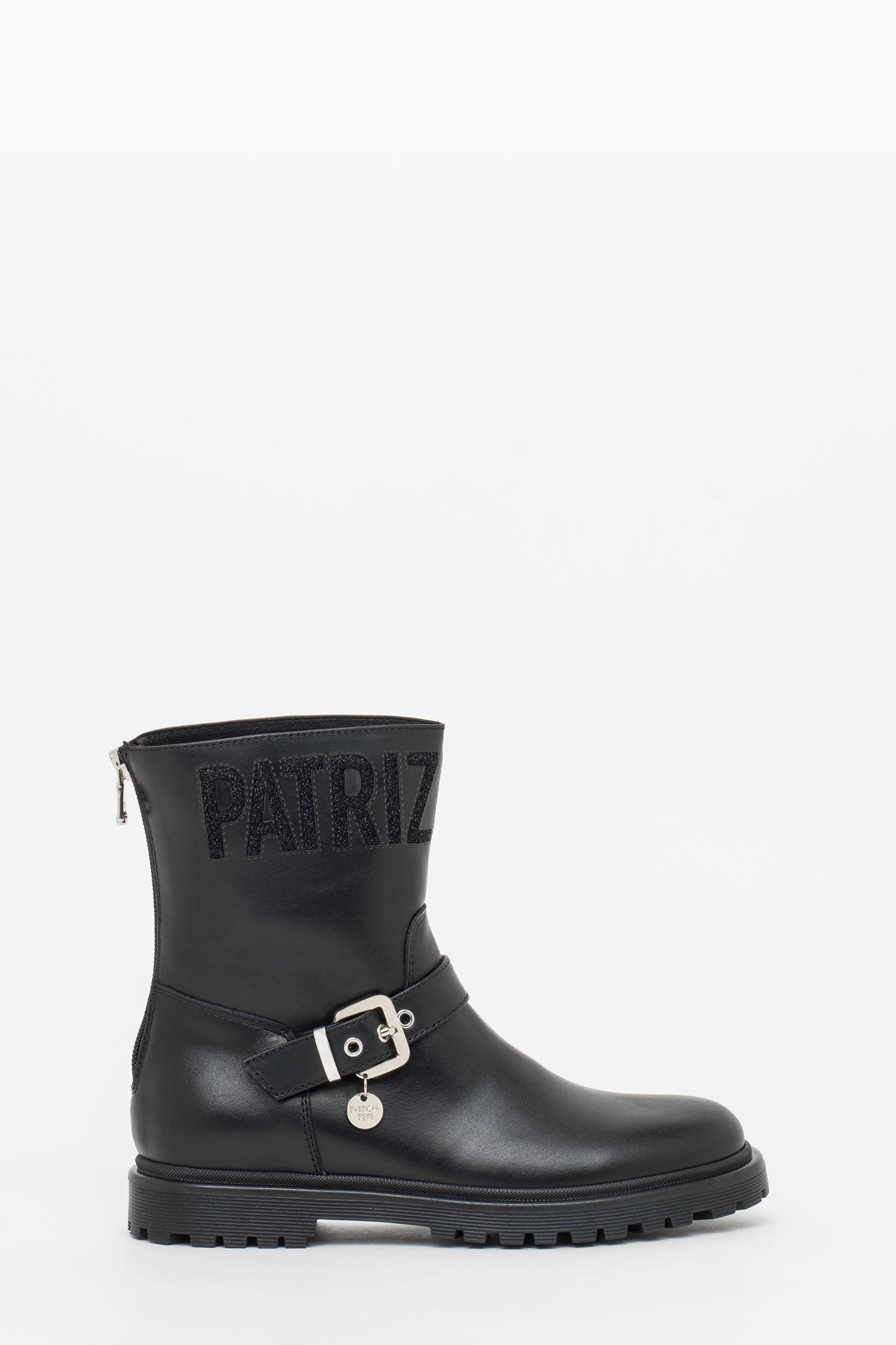 Ankle boot with logo
